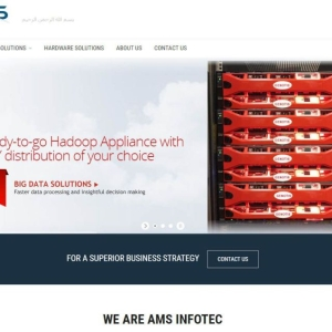 Ams Infotec website slider